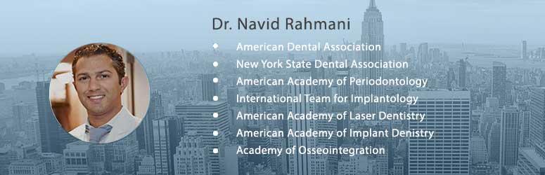 Dr Navid Rahmani Dental Implant Specialist NYC Banner Left